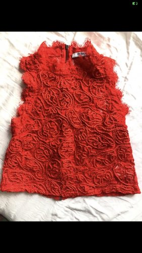 Zara Trafaluc Knitted Top red