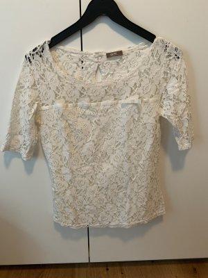 GDM Blusa in merletto bianco