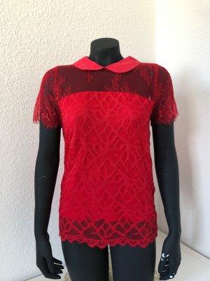 Morgan de Toi Lace Blouse red