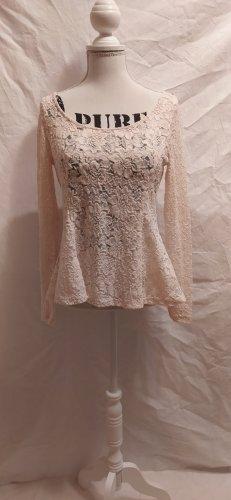 H&M Cowl-Neck Top pink polyamide