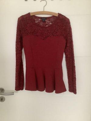Amisu Crochet Top dark red