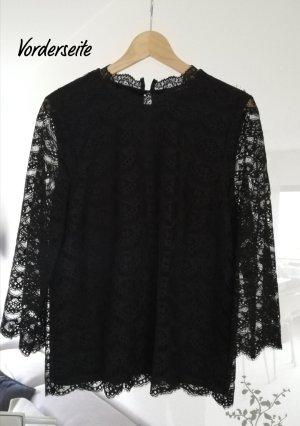 More & More Blusa in merletto nero
