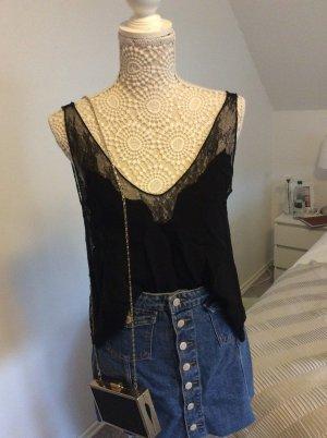 Zara Trafaluc Lace Top black