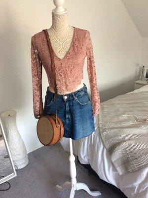 Zara Camisa recortada multicolor