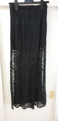 H&M Divided Lace Skirt black polyamide