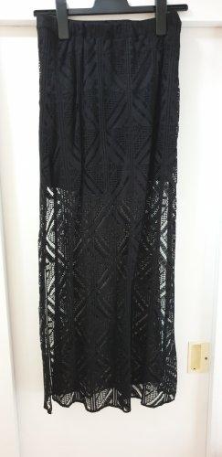 H&M Divided Falda de encaje negro poliamida