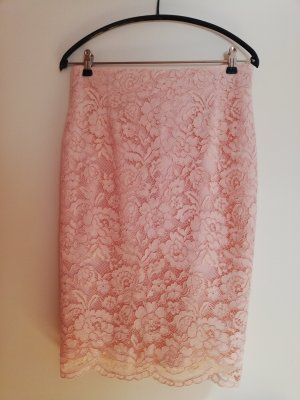 Set Koronkowa spódnica stary róż