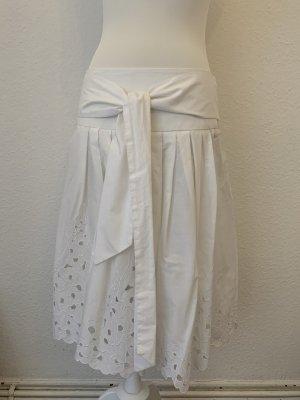Zero Falda de encaje blanco
