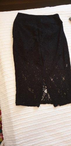 Guess Falda de encaje negro