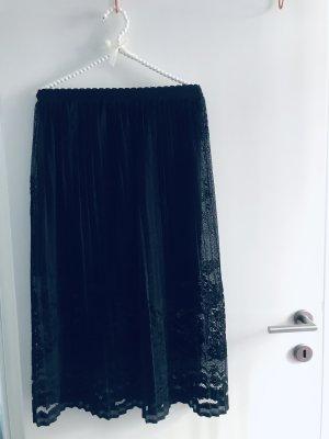 0039 Italy Jupe à plis noir