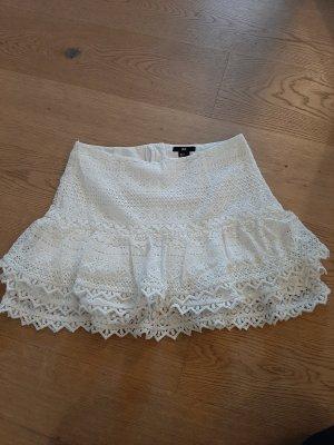 H&M Falda de encaje blanco puro