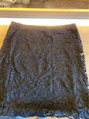 H&M Falda de encaje negro