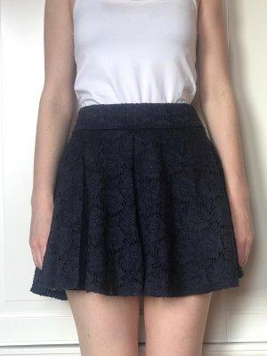 Hollister Lace Skirt dark blue cotton