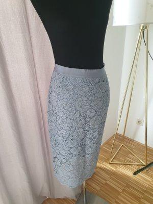 H&M Falda de encaje azul celeste