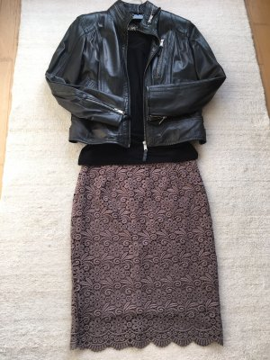 Falda de encaje marrón grisáceo