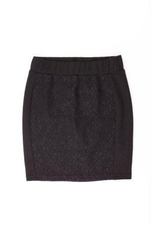 Spitzenrock Größe 34 schwarz aus Polyester