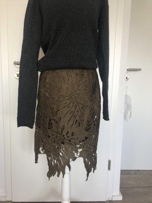 Coster Copenhagen Lace Skirt black-khaki