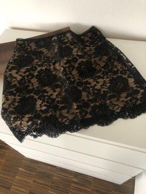 Divina Lace Skirt bronze-colored-black