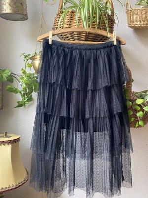 Fashion Union Falda de encaje negro