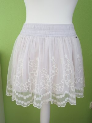 Hollister Lace Skirt natural white cotton