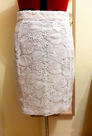 Mint&berry Lace Skirt white-natural white polyester