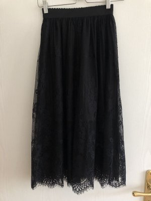 New Look Kanten rok zwart Polyester