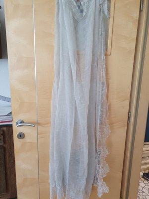 Faliero sarti Écharpe en soie beige clair-gris clair soie