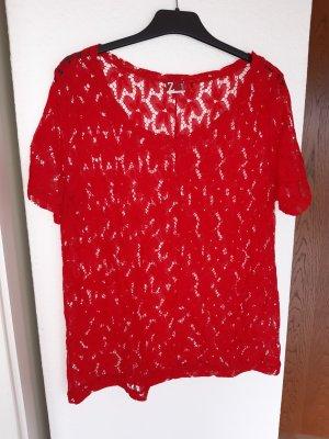 Z One Koronkowa bluzka czerwony