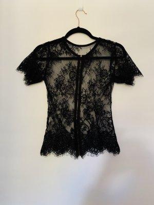 Camisa de malla negro-color oro