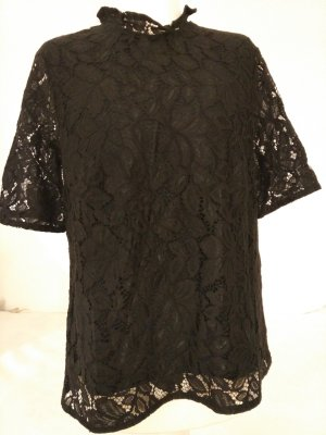 Spitzenshirt Bluse Damen in schwarz von H&M Gr. S ungetragen mit Etikett!