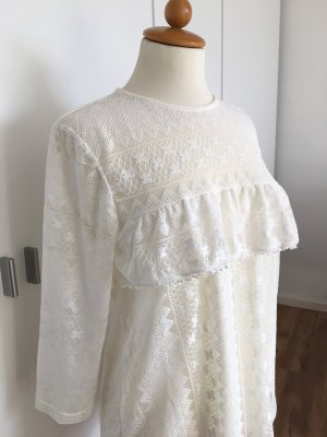 H&M Lace Blouse natural white-white