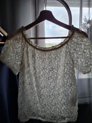 Only Blusa in merletto crema