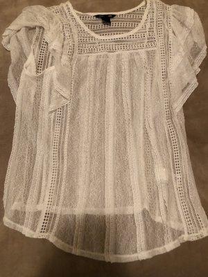 H&M Gehaakt shirt wit