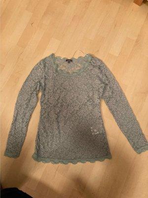 Street One Top en maille crochet gris vert