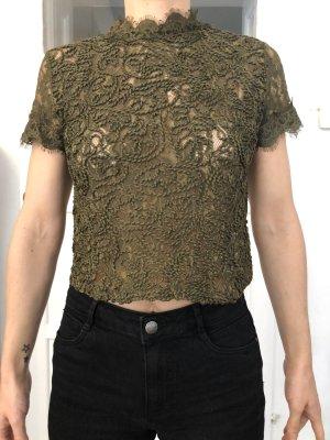 Spitzenshirt cropped Top