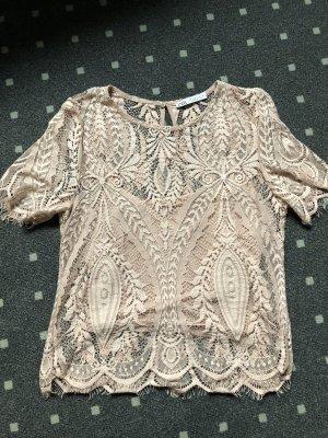 Zara Crochet Top dusky pink