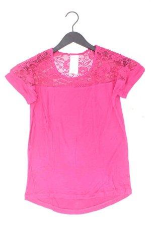 Spitzenshirt Größe 36 Kurzarm pink