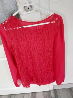 unbekannte Blusa in merletto rosso mattone