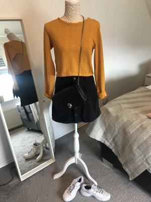 Zara Trafaluc T-shirt court orange clair-jaune