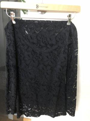 Gehaakt shirt zwart Polyester