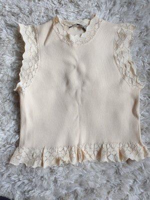 Zara Top di merletto crema