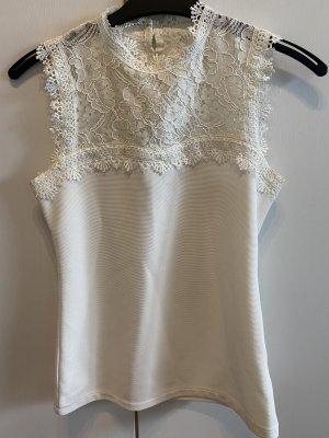 H&M Top de encaje blanco
