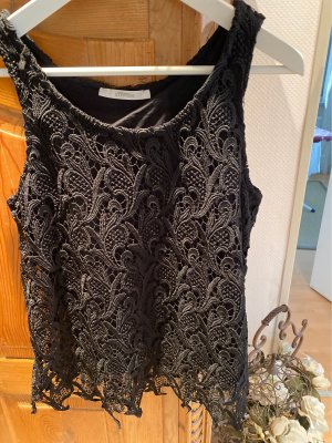 Uterque Lace Top black