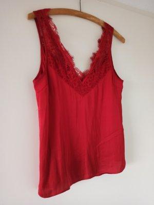 H&M Top in seta rosso