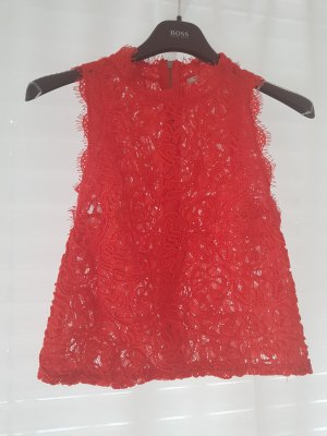Zara Kanten topje rood