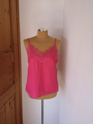 Vera & Lucy Lace Top magenta-neon pink