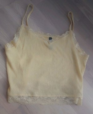 Lace Top pale yellow