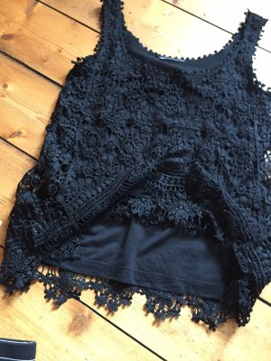 H&M Crochet Top black