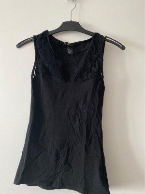H&M Divided Top di merletto nero