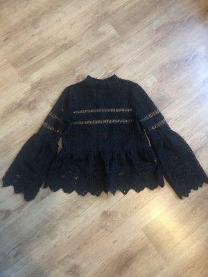 Bohoo Crochet Top black